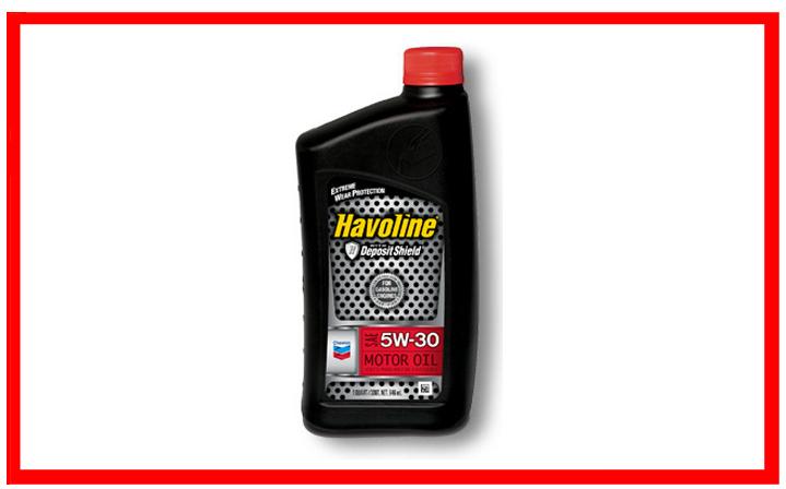 Chevron - Havoline SAE 5W-20, 5W-30, 10W-30, 10W-40, 20W-50, 30, 40