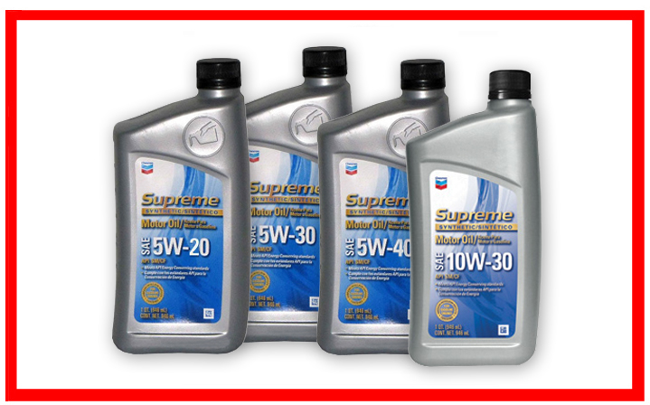 Chevron - Supreme Synthetic SAE 5W-20, 5W-30, 5W-40, 10W-30
