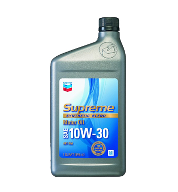 CHEVRON SUPREME SYNTHETIC BLEND 10W-30