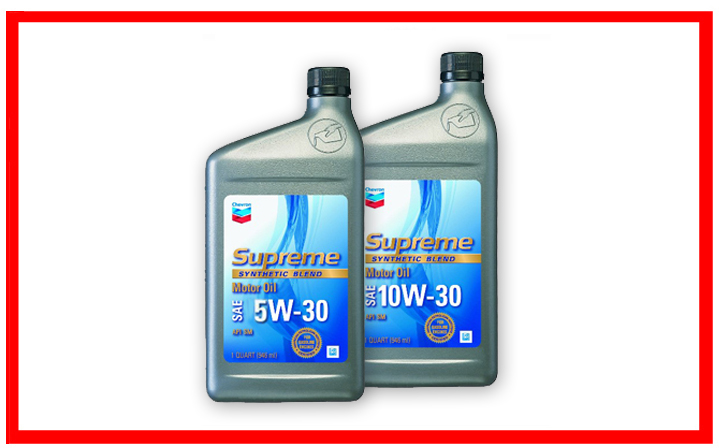 Supreme Synthetic Blend SAE 5W-30, 10W-30.
