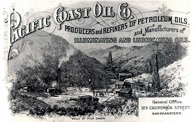 Предшественник Chevron, Pacific Coast Oil Co, 1879 г.