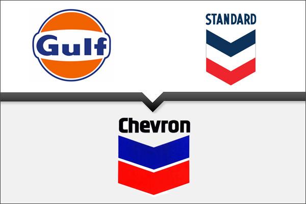 Standard покупает акции Gulf и берет имя Chevron, 1984 г.