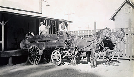 Конный вагон Standard Oil Co.бензин «Red Crown»,1915г.