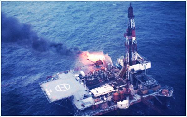 Нефтяная платформы в Aga-Oki-Kita, 1971 г.