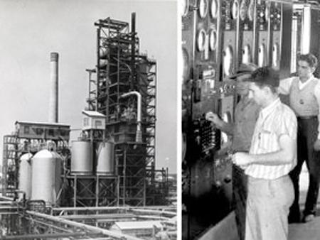 Первая в мире установка флюид-каталитического крекинга, «Джерси Стандард», Луизиана, 1942 г.