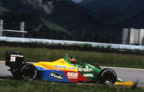 Mobil 1 спонсор команды Benetton в королевских гонках Formula 1, 1988 г.