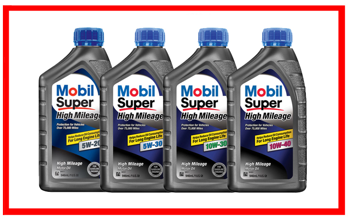 Mobil Super High Mileage 5W-20, 5W-30, 10W-30, 10W-40