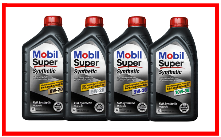 Mobil Super Synthetic 0W-20, 5W-20, 5W-30, 10W-30