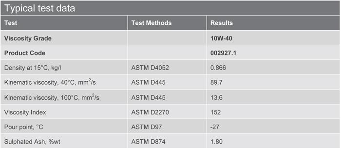 Основные характеристики: Texaco Ursa Premium TDS 10W-40
